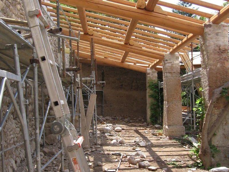 cantiere ristrutturazione annesso rurale villa architetti
