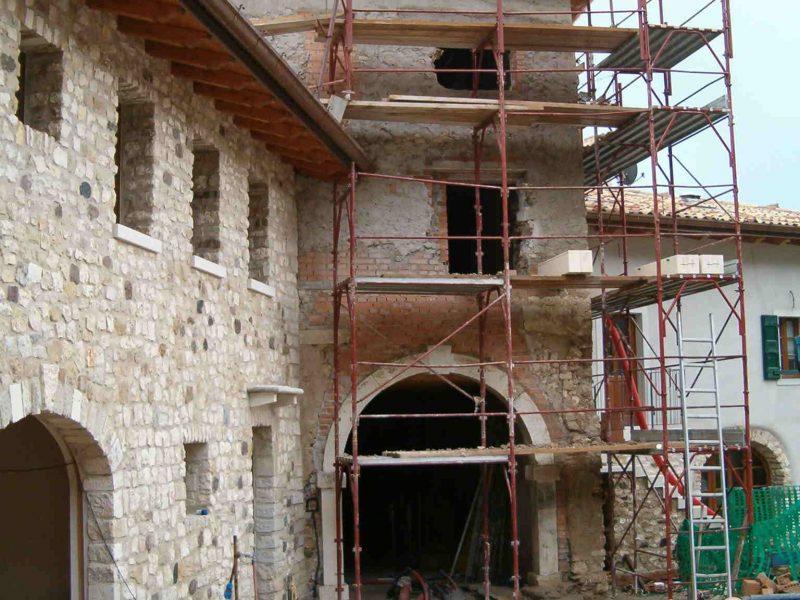 corte Ristrutturazione architetti cantiere